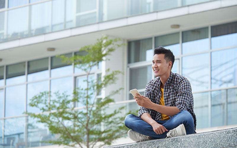 Student sitting