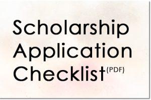 Scholarship Application Checklist