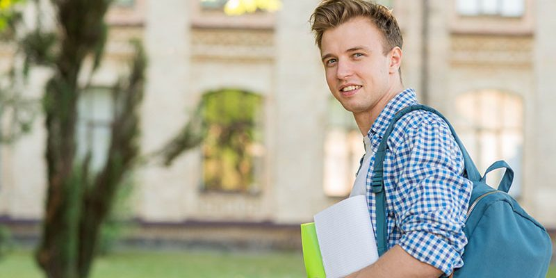College student excited about the future